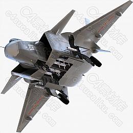 C4素材网-歼20战斗机飞机模型