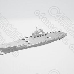C4素材网-军舰模型