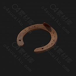 C4素材网-旧马蹄铁模型