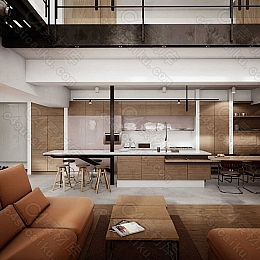 C4素材网-UE4工程-现代房子室内场景资产