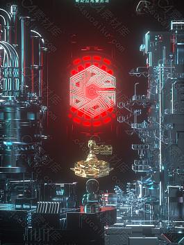 C4素材网-C4D工程-c4d酒吧城市开门红