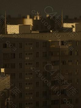 C4素材网-C4D工程-城市楼房建筑群