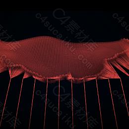 C4素材网-C4D工程-Redshift X-particle编织动画6S工程