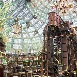C4素材网-UE4资产-蒸汽朋克室内工厂花园场景