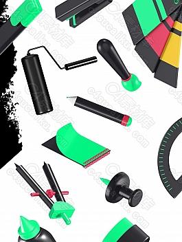 C4素材网-Blender工程- 25组创意 3D 图标