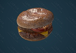 C4素材网-汉堡模型【FBX】