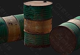 C4素材网-铁桶模型【FBX】