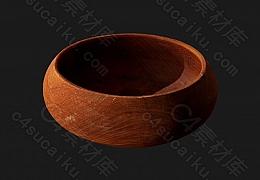 C4素材网-木碗模型