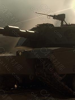 C4素材网-C4D工程-坦克场景