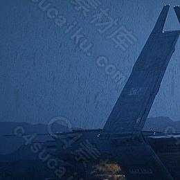 C4素材网-C4D工程-宇宙飞船科幻场景