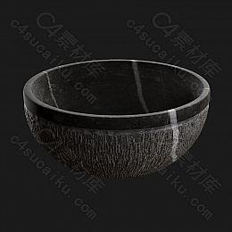 C4素材网-木碗模型【FBX】