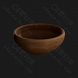 C4素材网-陶瓷碗模型【FBX】