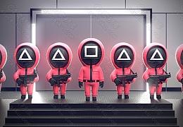 C4素材网-Q版鱿鱼游戏人物模型【FBX】